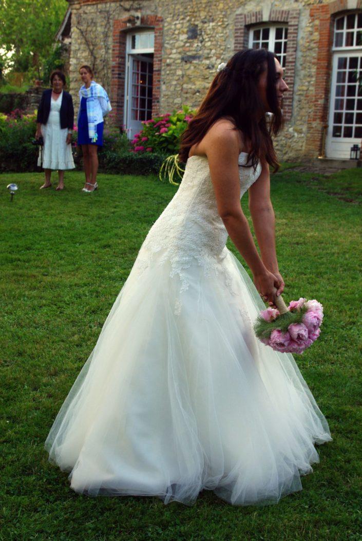Mariage - Lancer bouquet © Mllepix