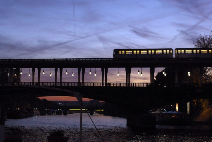 Paris Pont de Bir Hakeim Sunset