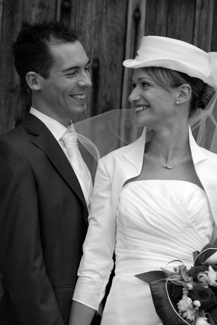 Portrait mariage B&W © Mllepix