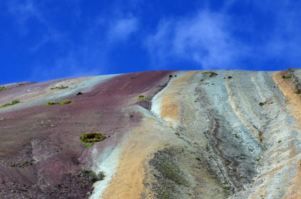 The Rainbow Mountain and Red Valley from Pitumarca