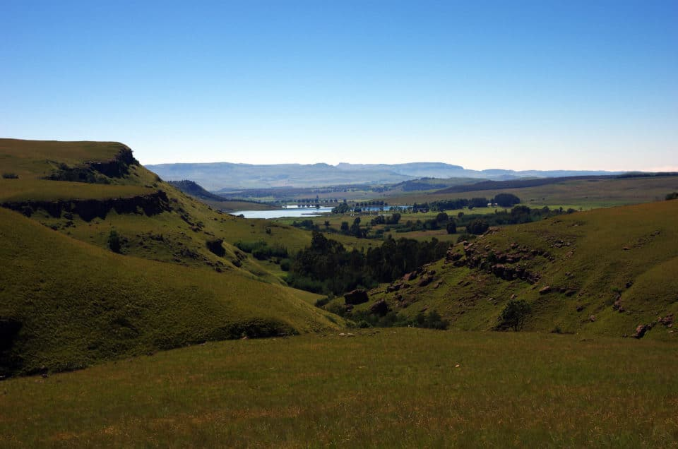 Le Drakensberg à pieds