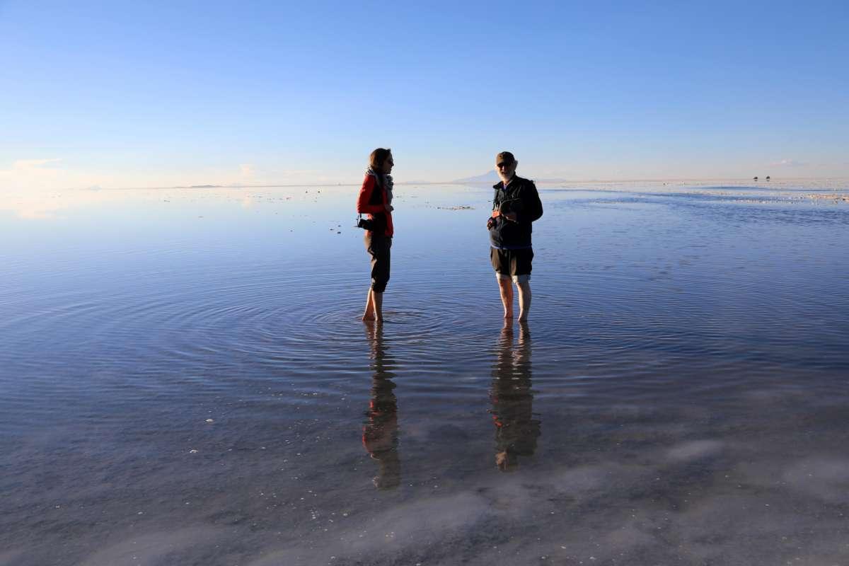 Sunset Uyuni Salt Flats - Bolivia © Mllepix